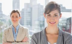 Smiling businesswomen - stock photo