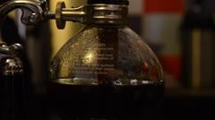 Preparation of vacuum coffee Stock Footage