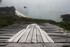 Launch ramp for paragliding Stock Photos
