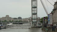Stock Video Footage of london eye closeup tourist atraction england landmark