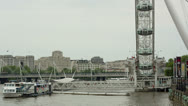 Stock Video Footage of london eylondon eye closeup tourist atraction england landmark