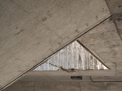 Acute angle of a ceiling - stock photo