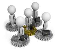 Stock Illustration of 3d small people - business team