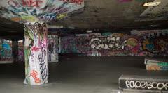 London skatepark Stock Footage