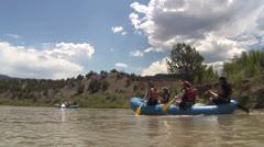 Rafting on Rio Chama 1 Stock Footage