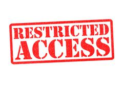 RESTRICTED ACCESS - stock illustration