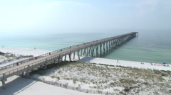 Fishing Pier Beach Stock Footage