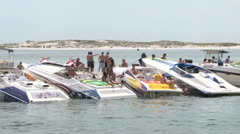 Boating along Beach Stock Footage