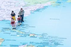 Family vacation concept destination bahamas Stock Photos