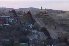 Nogales, Mexico - USA Border Stock Footage