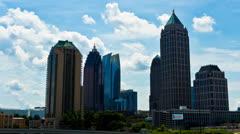 Downtown Atlanta Timelapse Stock Footage