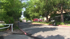 Fire engine ,truck returning Stock Footage