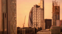 London skyline financial district business engalnd Stock Footage