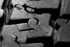 tyre texture - stock photo