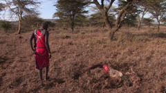 Masai warrior narrative Stock Footage