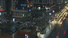 Abu Dhabi night traffic 2 Stock Footage