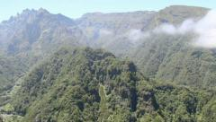 Mountains on Madeira island, Portugal Stock Footage