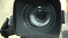 Large zoom lens camcorders Stock Footage