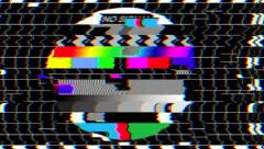 Bad TV Screen II - Glitchy No Signal Noise & Sound - stock footage