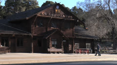 Grand Canyon National Park Railway Depot Stock Footage