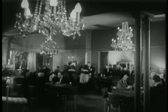 People playing roulette in casino, 1940s Stock Footage