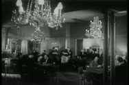 Stock Video Footage of People playing roulette in casino, 1940s