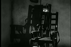 Vintage electric chair with lamp Stock Footage