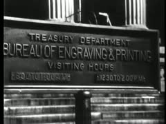 Montage - US Treasury money printing process Stock Footage