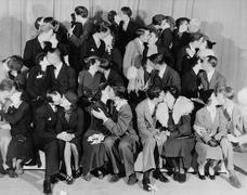 KISSING CONTEST Stock Photos
