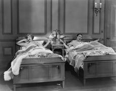 TWIN BEDS - stock photo