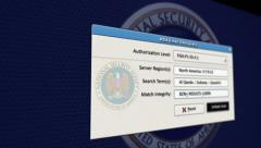 NSA Data Email Mining Scanning Spying Surveillance - stock footage