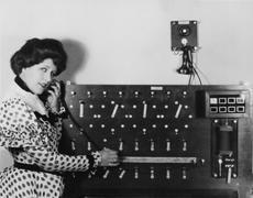 PLEASANT PHONE MANNER Stock Photos