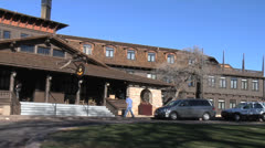 El Tovar Hotel at Grand Canyon National Park Stock Footage
