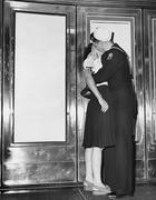 U.S. sailor and his girlfriend Stock Photos