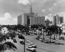 Miami, Florida, circa 1951 Stock Photos