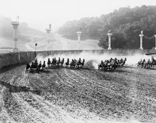 CHARIOT RACE - stock photo