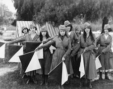 Female signal corps Stock Photos