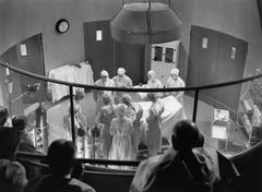 View of operating theater with spectators Stock Photos