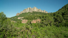 Montserrat mountain barcelona spain landmark Stock Footage