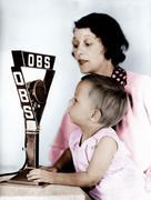 Vauva ja äiti radio mikrofoni Kuvituskuvat