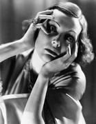 Closeup of distraught woman - stock photo