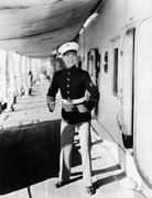 Portrait of eager sailor - stock photo