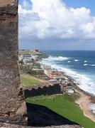 San Juan Puerto Rico Fort San Cristobal - stock photo