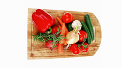 Collection of fresh raw vegetables Stock Footage