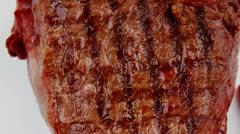 Meat food : roast beef steak Stock Footage