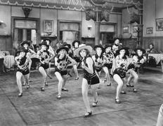 A group of women dancing Stock Photos