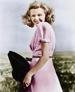 Woman smiling looking vivacious - stock photo