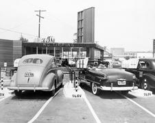 Drive-in restaurant 'The Track', Los Angeles, CA, July 10, 1948 Stock Photos