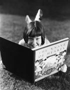 Reading is fun - stock photo