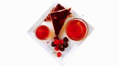 English cake and tea Stock Footage